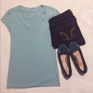 Ultra Soft Teal V-Neck